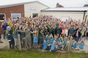 Ottery St Mary Scout Group celebrates the reopening of the scout centre after a 3 year renovation and extension project finally concludes.