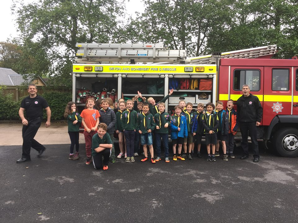 Patteson Cubs visit the Fire Station